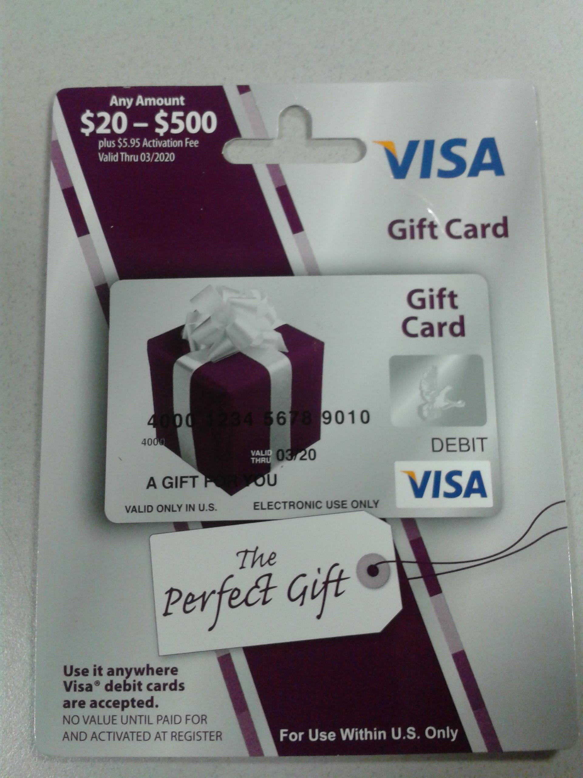 Visa Prepaid Gift Card Use - Gift Ideas