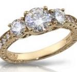 synthetic diamond ring