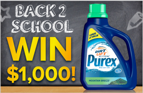 back to school sweepstakes purex