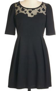 black dress modcloth sweetheart shop