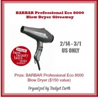 BARBAR Professional Eco 8000 Blow Dryer Giveaway