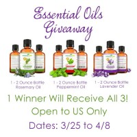 3 - 2 oz. Bottles Essential Oils Giveaway
