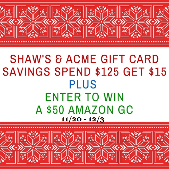shaw's & acme gift card savings