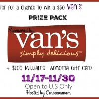 Van's Prize Pack Giveaway - Including a $100 William Sonoma Gift Card