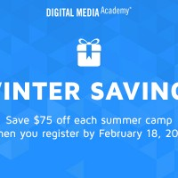 Digital Media Academy Early Camp Sign-Up Savings - $75 off @DMA_org