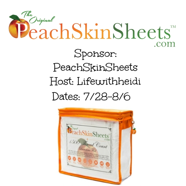 Peach Skin Sheet Giveaway