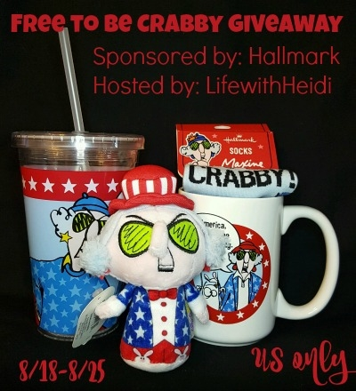 Free-to-Be-Crabby Prize Pack giveaway