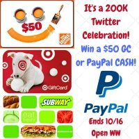 $50 Twitter Celebration Giveaway - Your Choice of 4 Prizes