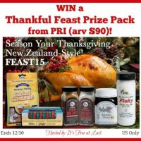 Thankful Feast Prize Pack Giveaway - Manuka Honey & More
