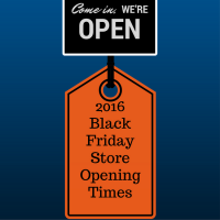 2016 Thanksgiving & Black Friday Store Opening Times