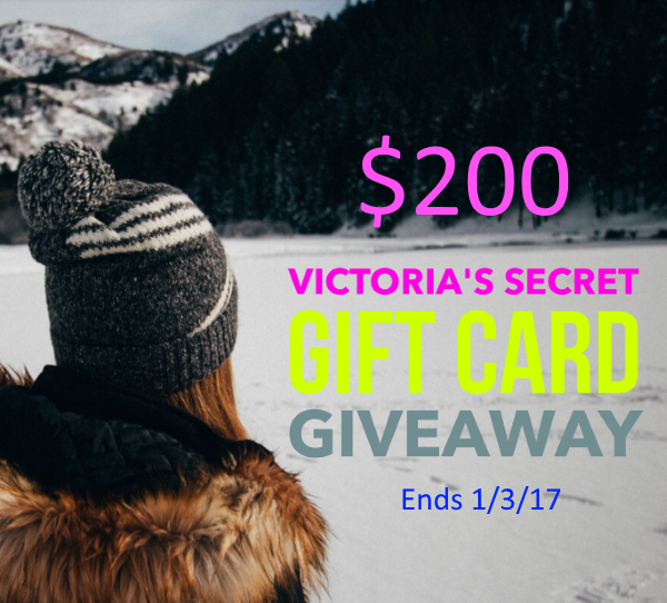 $200 Victoria's Secret Gift Card Giveaway