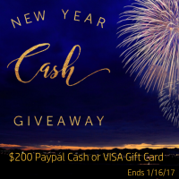 New Year Cash Giveaway - $200 Via PayPal or VISA GC