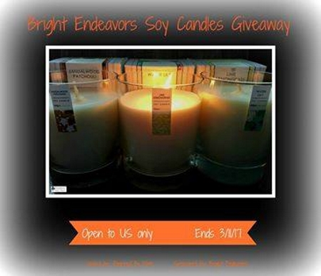 Bright Endeavors soy candle giveaway