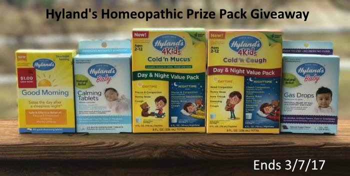 Hyland's Homeopathic Prize Pack Giveaway