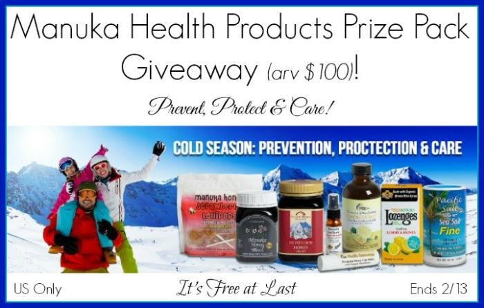 Manuka Health Products Prize Pack Giveaway