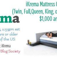 iKrema Mattress Giveaway - Winner Selects Size