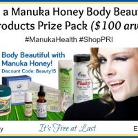 Manuka Honey Body Beautiful Products Prize Pack Giveaway