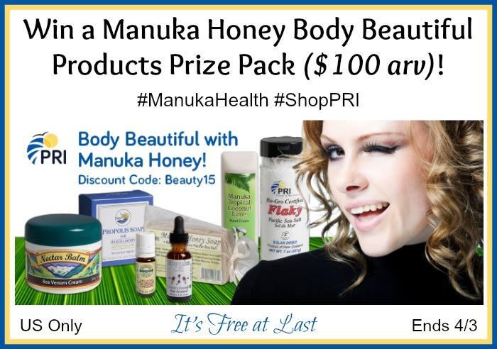 manuka hManuka Honey Body Beautiful Products  Prize Packoney giveaway