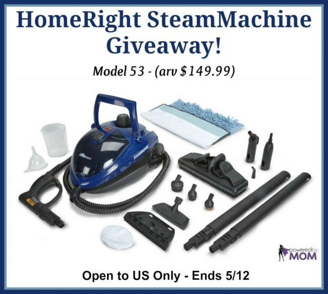 HomeRight SteamMachine Giveaway