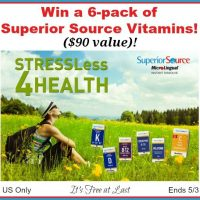 """""""Stress Less 4 Health"""" 6-pack of Superior Source Vitamins Giveaway #SuperiorSource"""