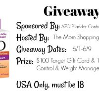 $100 Target GC +  AZO Bladder Control & Weight Management Giveaway