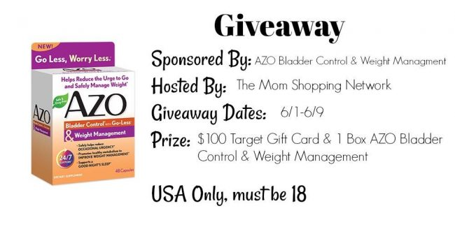 AZO Bladder Control & Weight Management $100 Target GC Giveaway