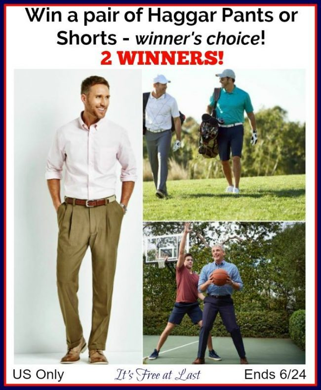 Haggar Pants or Shorts giveaway