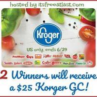 $25 Kroger Gift Card Giveaway - 2 Winners  #Switch2BODYARMOR