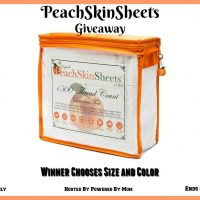 PeachSkinSheets Giveaway - Winner Picks Size and Color