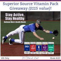 Superior Source MicroLingual® Vitamin Pack Giveaway  #SuperiorSource