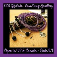 $100 GC to Luxe Design Jewellery Giveaway