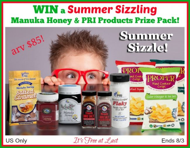 Summer Sizzling Manuka Honey & PRI Products Prize Pack Giveaway
