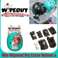 Wipeout Dry Erase Kids Helmet and Safety Pads Giveaway #IWipeout