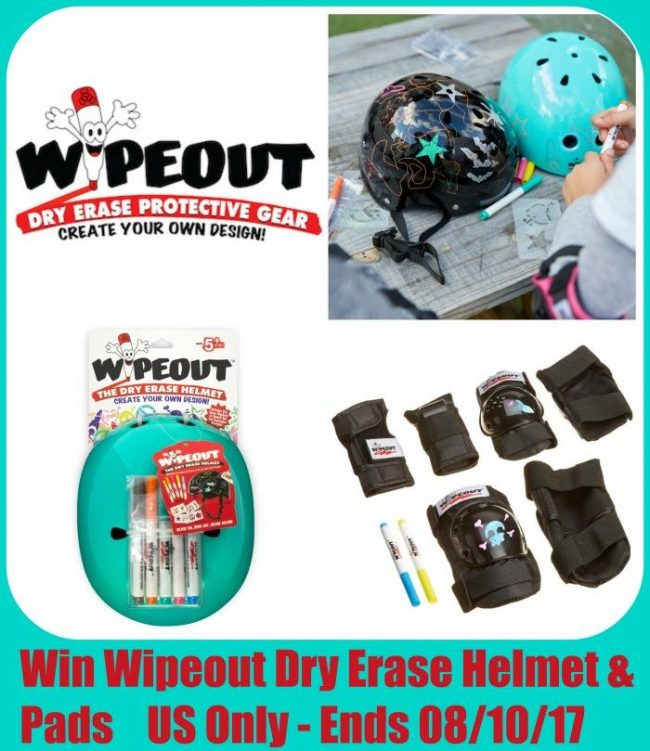 Wipeout Dry Erase Kids Helmet and Safety Pads Giveaway