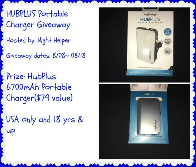 HubPlus Portable Charger Giveaway
