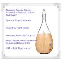 Organic Aromas Raindrop Diffuser Giveaway