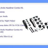 Andis Headliner Combo Kit #Giveaway