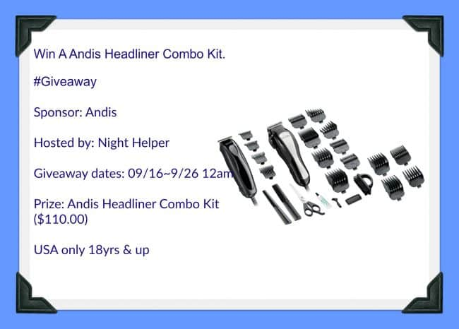 Andis Headliner Combo Kit #Giveaway