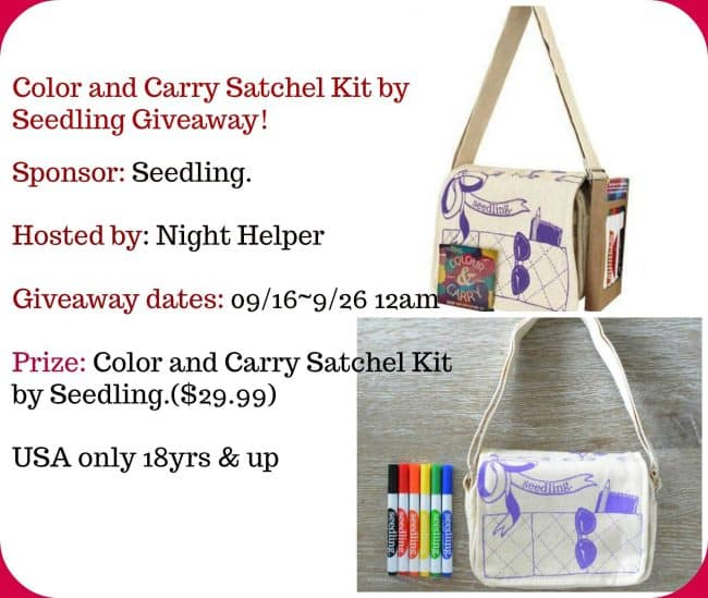 Color And Carry Satchel Kit. #Giveaway