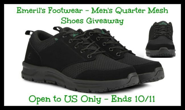 Emeril Lagasse's Men's Quarter Mesh Shoes giveaway