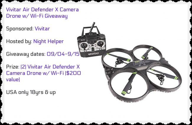 Vivitar Air Defender X Camera Drone with Wi-Fi Giveaway
