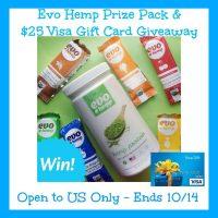 Evo Hemp Prize Pack + $25 Visa Gift Card Giveaway