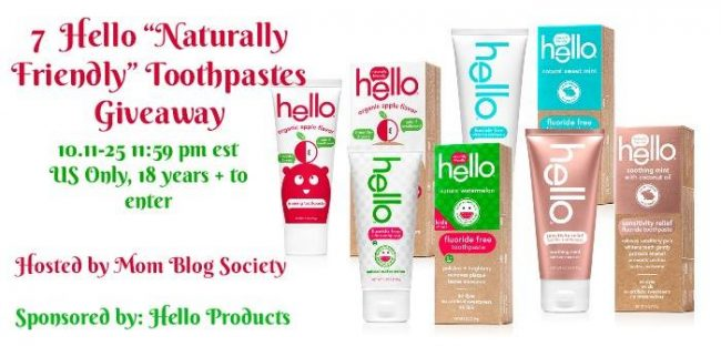 Hello Products Naturally Friendly Toothpaste Giveaway