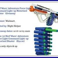 Nerf Wars! Adventure Force Light Command Light-up Motorized Blaster Giveaway - 2 to One Winner
