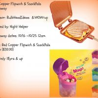 Red Copper Flipwich & WOWCup Snackpal Giveaway