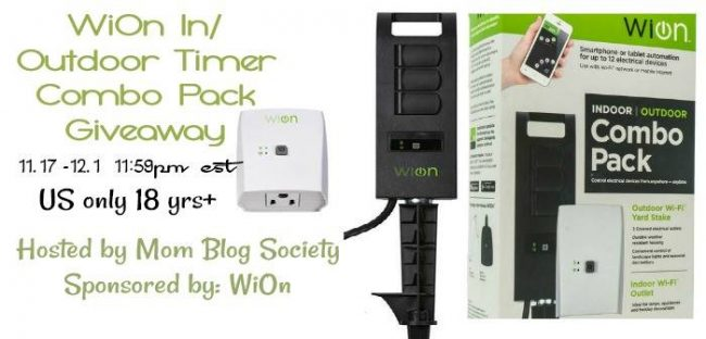 Welcome to the WiOn Indoor/Outdoor Timer Combo Pack Giveaway