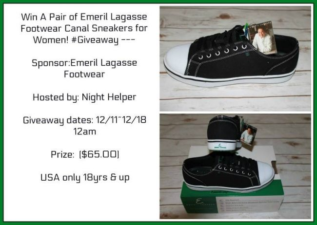 Emeril Lagasse Footwear Women's Canal Sneakers Giveaway