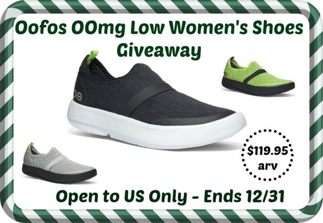 Oofos Women's OOmg low show shoes giveaway