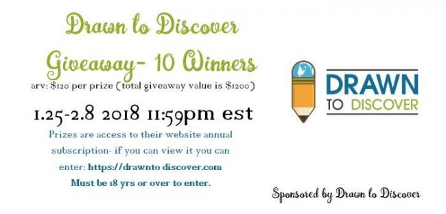 Drawn to Discover Giveaway
