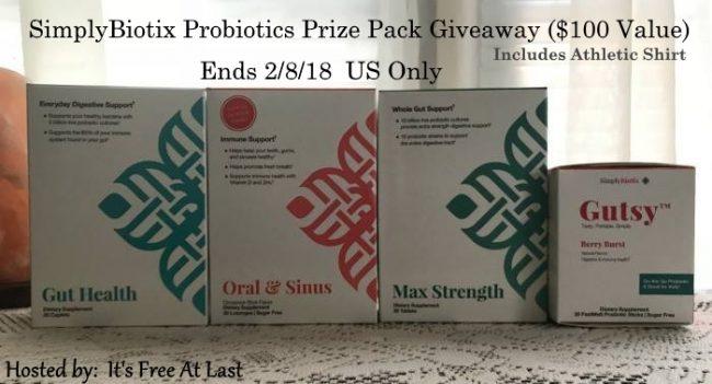 SimplyBiotix Probiotics Prize Pack Giveaway